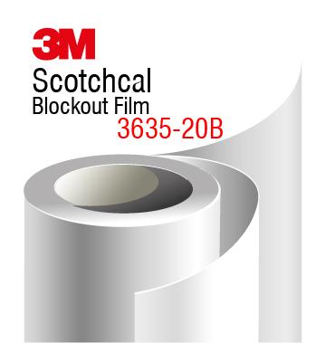 3M Scotchcal Blockout Film 3635-20B Black Matte