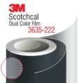 3M Scotchcal Dual Color Film 3635-222 Black Matte