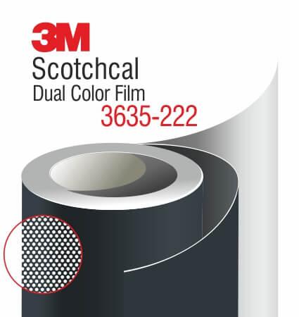 3M Scotchcal Dual Color Film 3635-222 Black Matte
