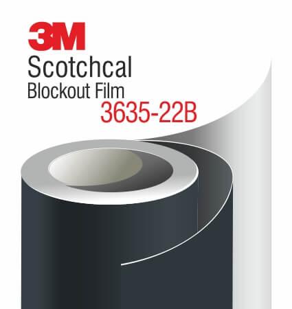 3M Scotchcal Blockout Film 3635-22B Black Matte