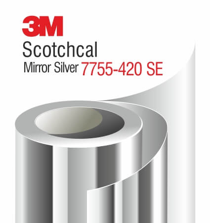 3M Scotchcal Mirror Silver Film 7755-420 SE