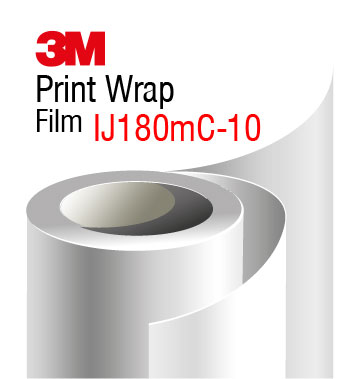 3M Print Wrap Film IJ180mC-10, white gloss