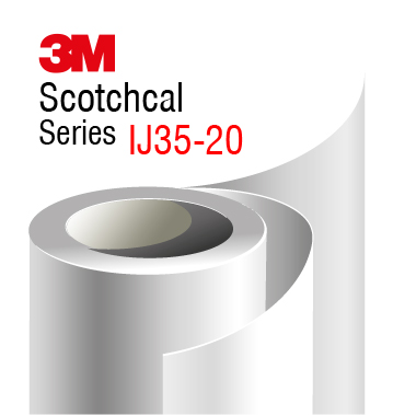 3M Scotchcal IJ35-20, bela mat