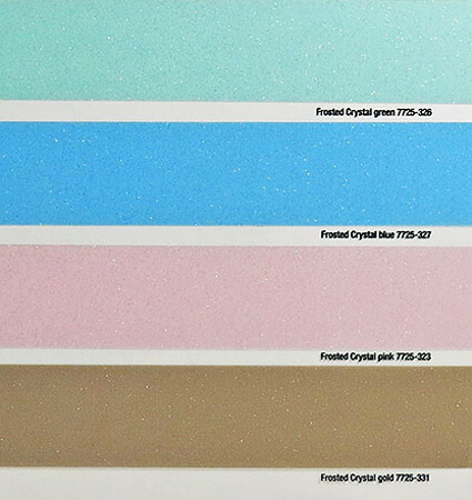 3M 7725 frosted pink, green, blue, gold