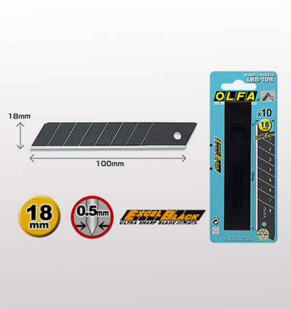 OLFA LBB-10B Black Ultra-Sharp Snap-off Blades