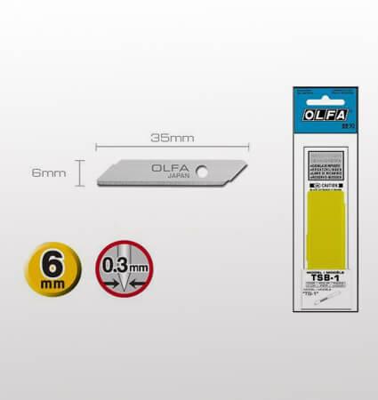 OLFA TSB-1 Top Sheet Cutter Blades, 6mm