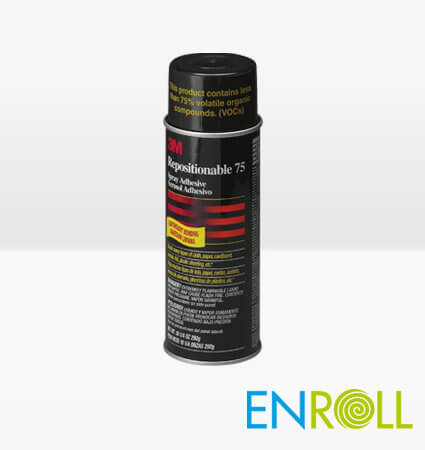 3M Spray 75 - Repositionable Spray Adhesive, Enroll