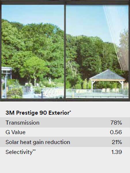 3M Prestige 90 Extetior Folija za efektivnu zaštitu od toplote i UV zračenja