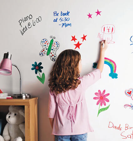 3M DI-NOC Whiteboard Film WF-111 for kids rooms